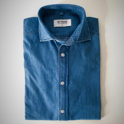 Camisa Denim Cuello Cutaway