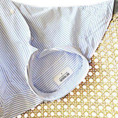 Camisa Blanca Raya Diplomática Azul