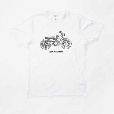 Camiseta Blanca Cafe Racer
