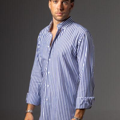 Camisa BD Raya Ancha Marina Blanca